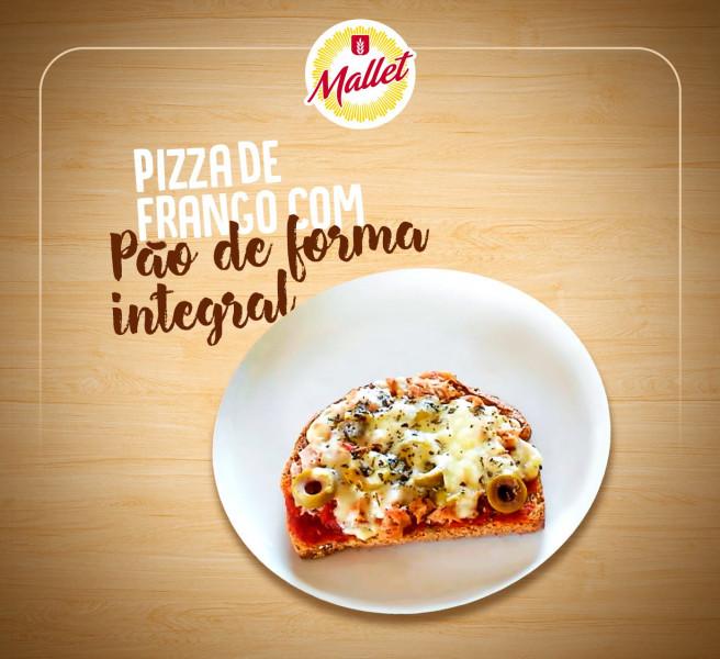 Pizza de Frango com Pão Integral em 21/08/2020